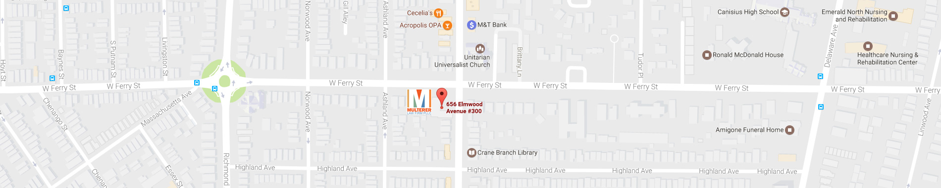Graphic map of 656 Elmwood Avenue Buffalo NY